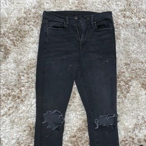 URBAN OUTFITTERS BLACKED HIGHWAISTED JEANS